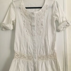 Tops - White Cotton Blouse